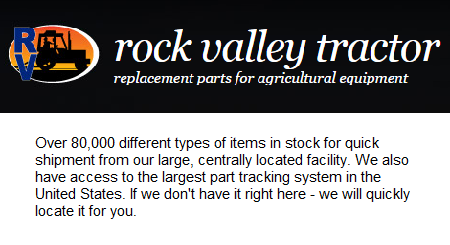 Rock Valley Tractor Parts - Rock Valley, IA